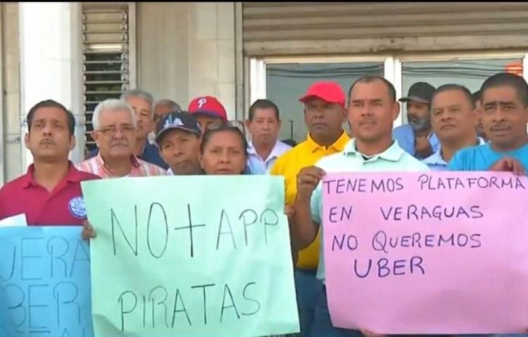 Transportistas de Veraguas alzan su voz contra Uber
