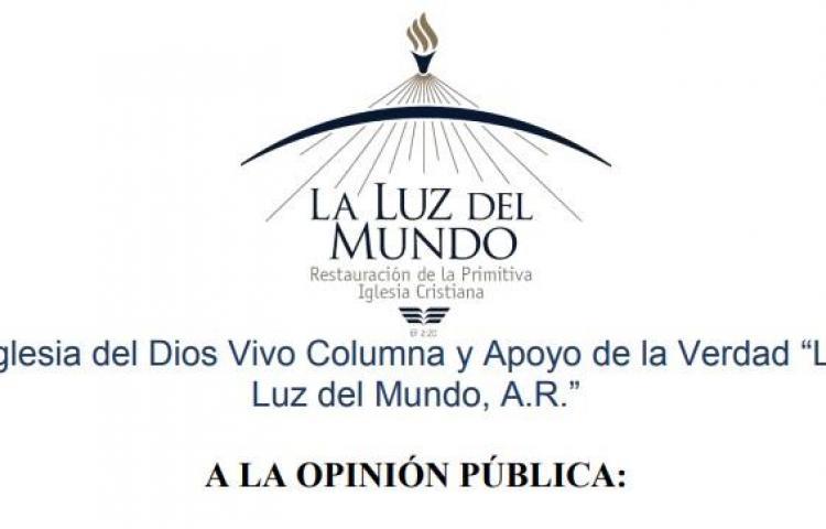 Iglesia Luz del Mundo niega presencia en comunidad de Alto Terrón
