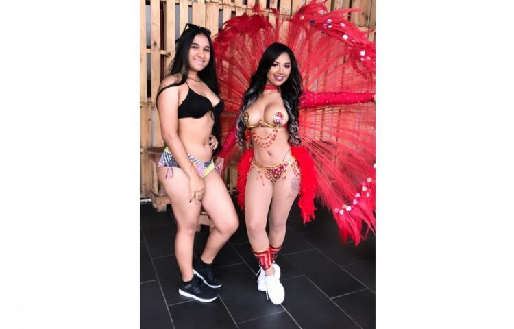 Anyuri, con diminuto traje graba su próximo tema de Carnaval