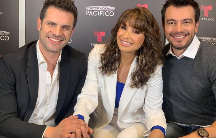 """Majida Issa, Mark Tacher y Luciano D'Alessandro en """"Operación Pacífico"""""""