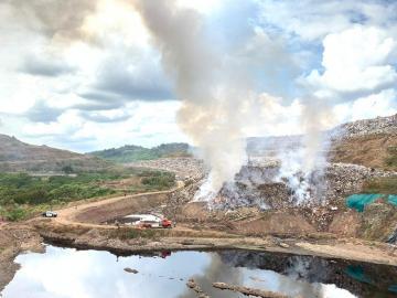 Controlan incendio en Cerro Patacón