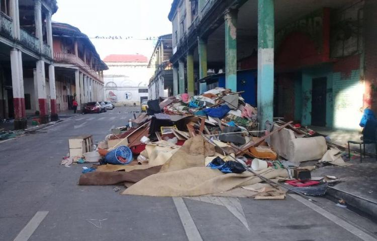 'Pataconcitos' en el centro de la ciudad de Colón