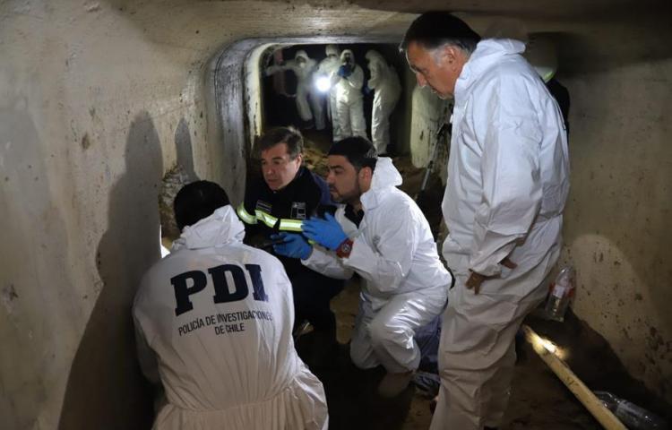 Detenidas cinco personas en Chile por excavar un túnel para robar un banco