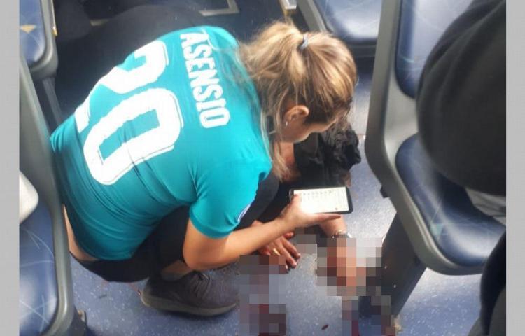 Mujer fue impactada con una piedra en el metrobús