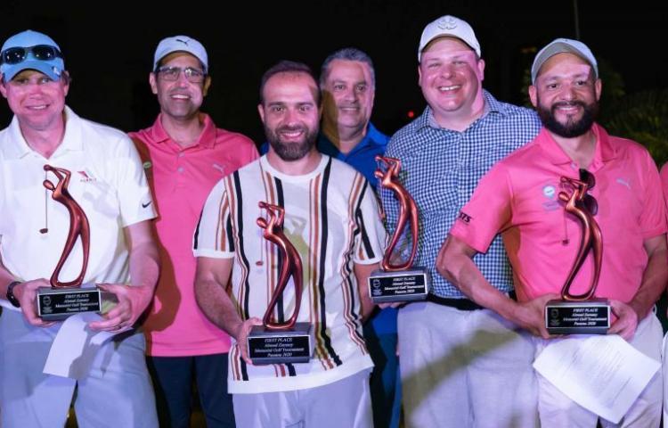Campeones del torneo benéfico de Golf Copa Tech Ops 2020