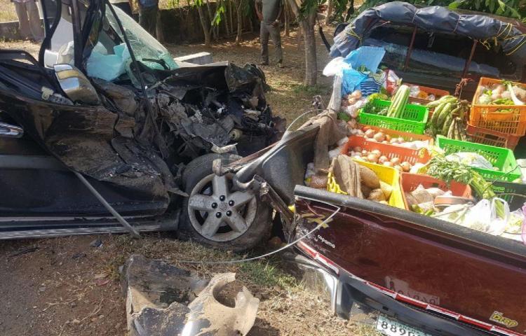 Mujer herida en una colisión en Los Santos