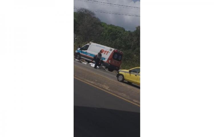 Hombre cae de puente peatonal y bus lo atropella en Capira