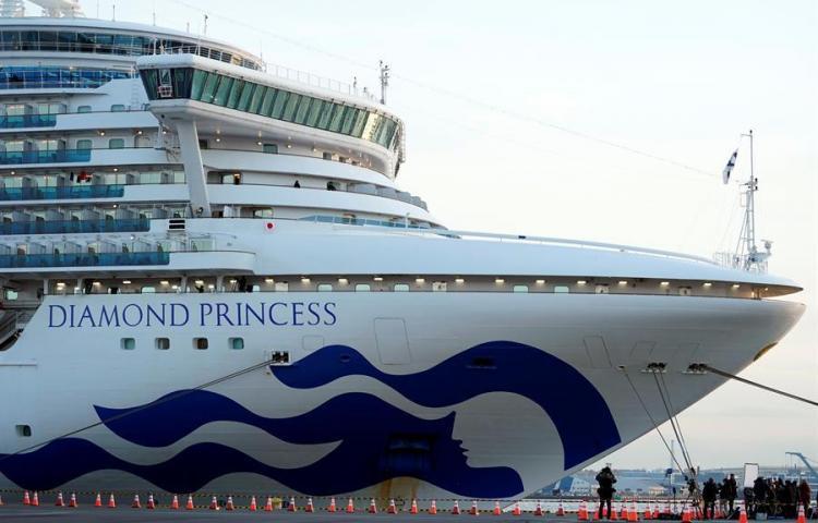 Un colombiano en el crucero Diamond Princess es diagnosticado con coronavirus