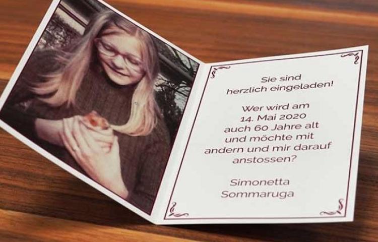 Presidenta de Suiza invita a todos los suizos de su edad a su 60 cumpleaños
