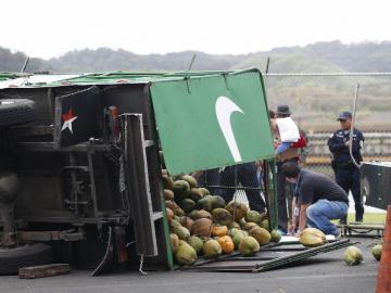 Chamo murió aplastado por camión cargado de pipa