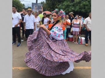 Ashley Nicole es la reina del Festival Folclórico de La Mitra de La Chorrera