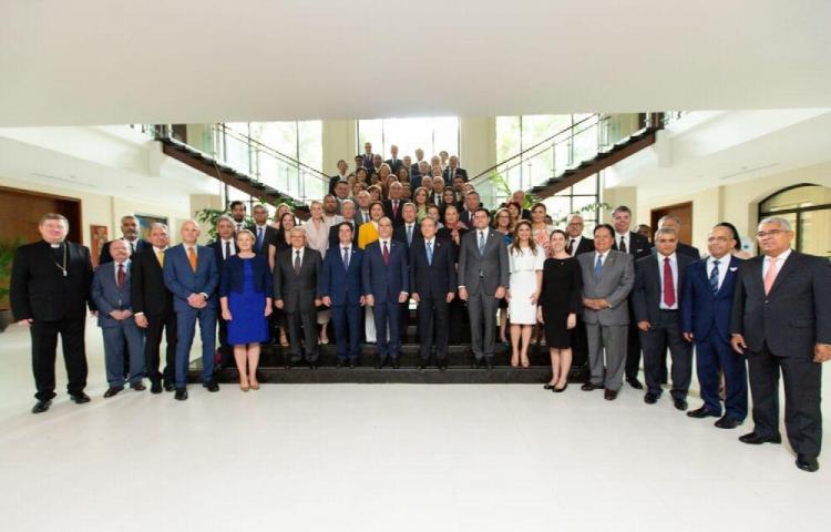 Cuerpo diplomático en Panamá se reunió con el presidente Cortizo Cohen