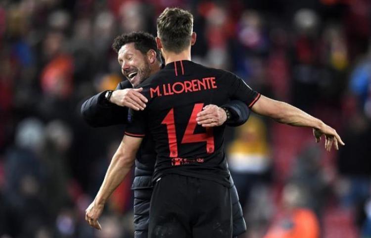 Atlético de Madrid elimina al Liverpool con doblete de Llorente y otro de Morata