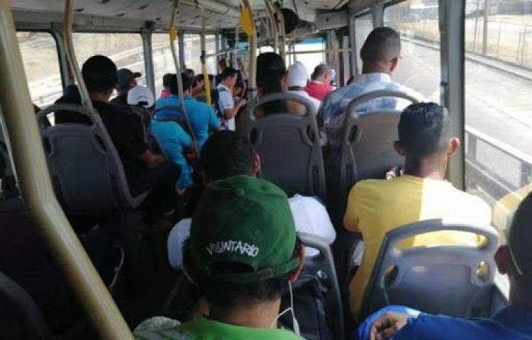Coronavirus, enemigo invisible en el Metrobús