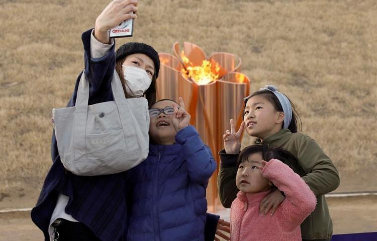 Llama de los Juegos Olímpicos de Tokio 2020 aterrizó en Japón