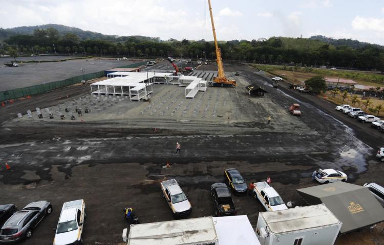 Avanza la construcción del hospitalModular para pacientes con covid-19