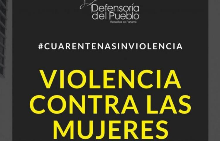 Defensora del Pueblo alerta sobre posible incremento de violencia contra la mujer ante situación de aislamiento social
