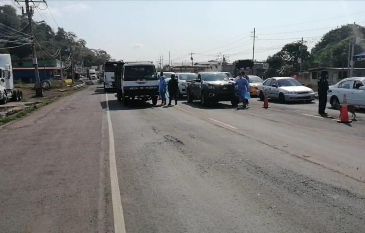 Autoridades supervisan cumplimiento del cerco sanitario en La Chorrera