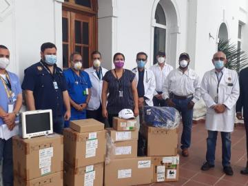 Prácticos del Canal donan equipos al hospital Santo Tomás
