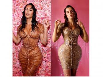 Kim Kardashian aplaude a diseñadora que recrea su vestido de la Met Gala con 'tape'