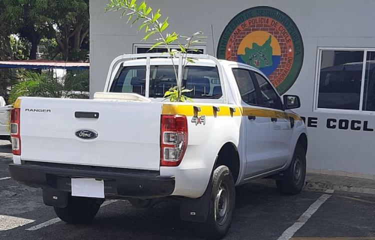 Decomisan presunta droga que iba en un vehículo del Estado en Coclé