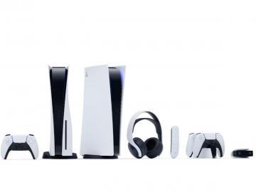 Vertical, blanca y con mando DualSense, así es laPlayStation5