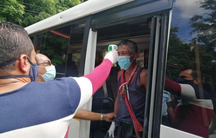 Personas en situación de calle en San Miguelito son llevados a albergue