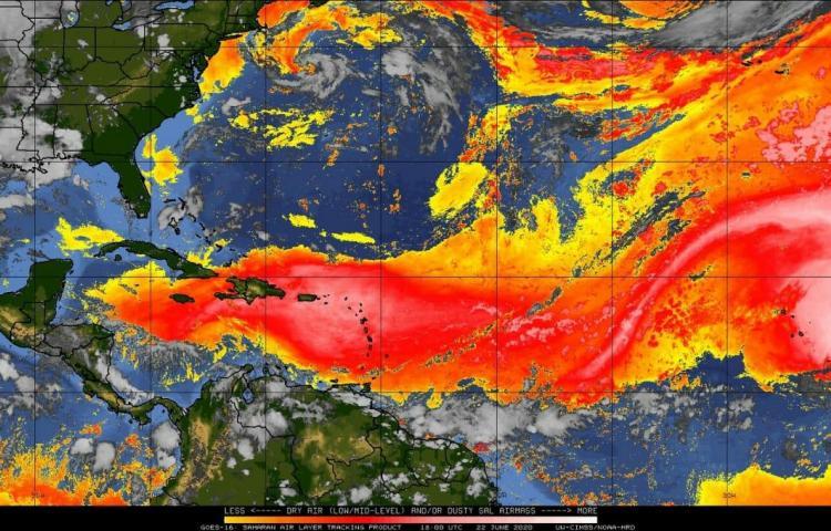 Polvo Sahariano afectará a Panamá el próximo miércoles 24 de junio
