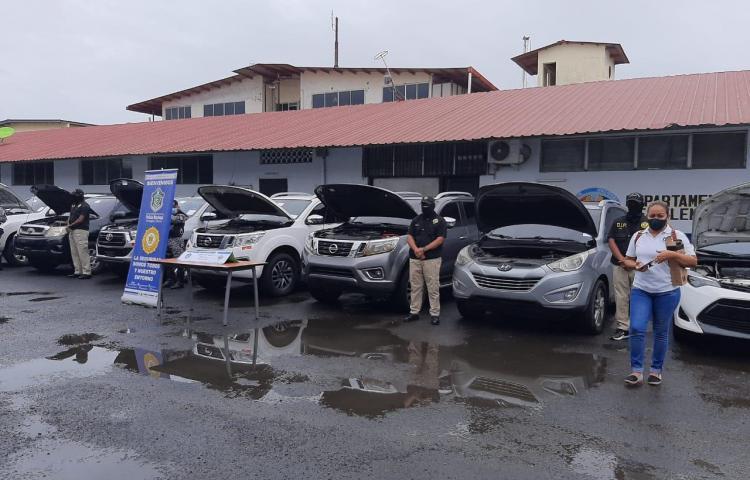 Autoridades recuperan 10 vehículos robados en la provincia de Colón