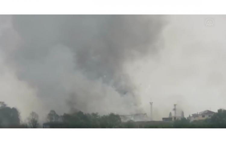 Dos muertos y 74 heridos en la fuerte explosión en una pirotécnica en Turquía