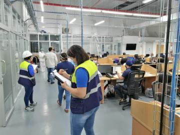 Verifican cumplimiento de las normas de salud e higiene en empresas de Panamá Este