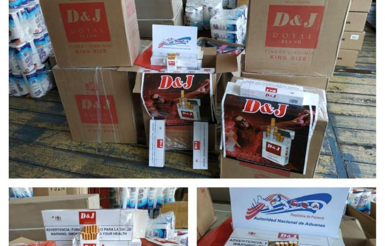 Decomisan contenedor con cigarrillos de presunto contrabando