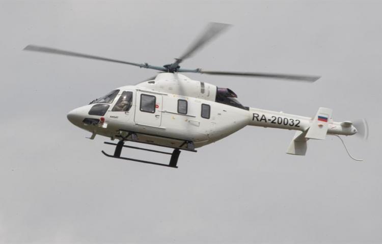 El Ansat, un helicóptero ambulancia para pacientes con covid-19