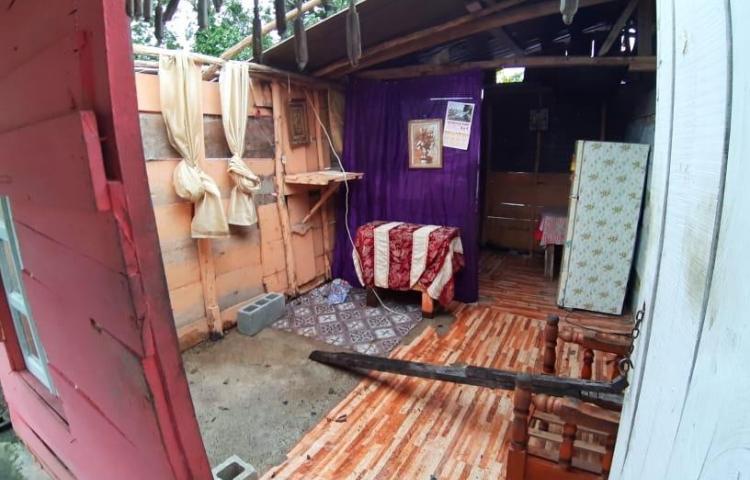 Evalúan a 15 familias afectadas por desprendimiento de techo e inundación en Chepo y Alanje