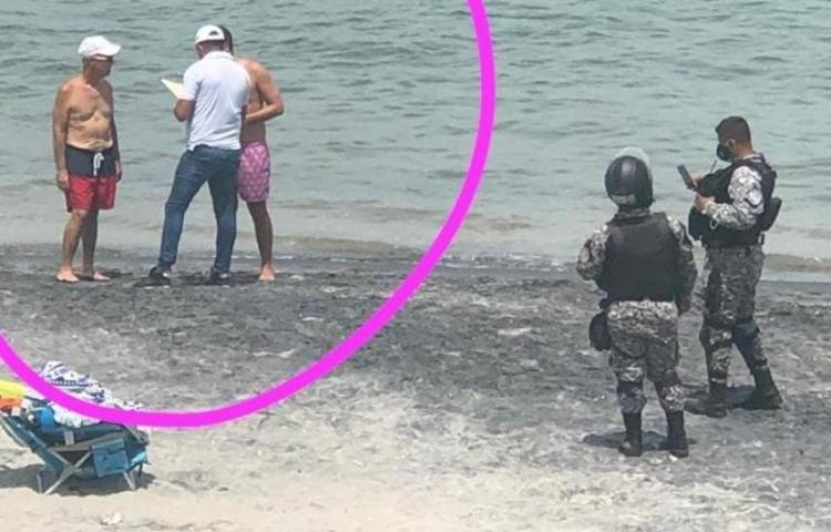 Alcalde Fábrega asegura que pagó multa por estar en la playa