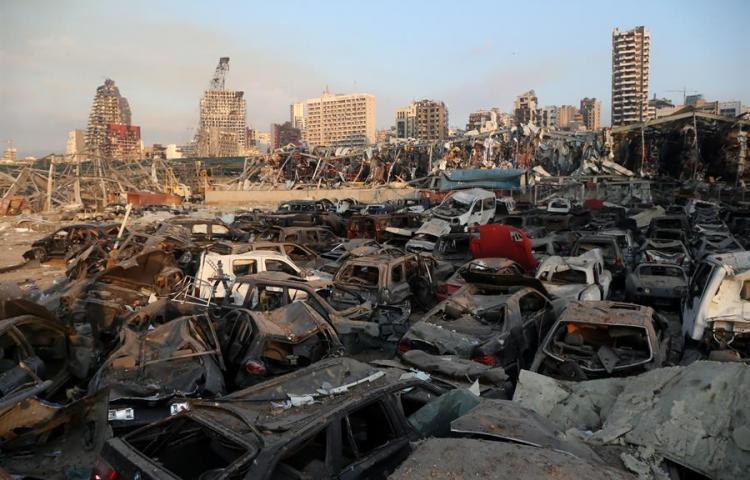 Fotos:Líbano declara día de luto tras la gran explosión en el puerto de Beirut