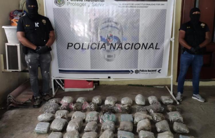 Incautan drogas y dinero en una residencia en Tocumen