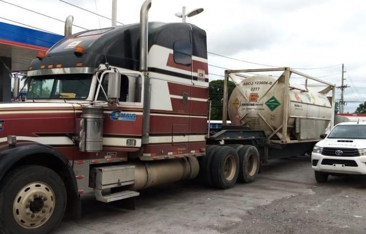 Aduanas retiene articulado con placa costarricense en Chiriquí