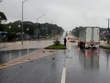 Reportan fuertes lluvias en diferentes puntos del país
