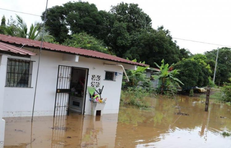 68 viviendas afectadas por fuertes lluvias, según informe del Sinaproc
