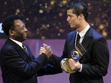 Pelé felicita a Cristiano Ronaldo