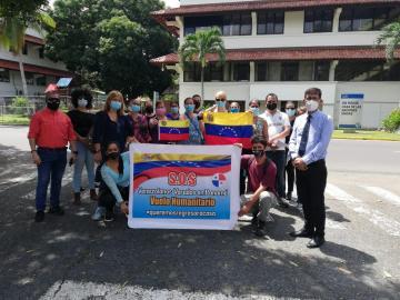 Venezolanos varados en Panamá protestan en la ONU para ser repatriados el sábado