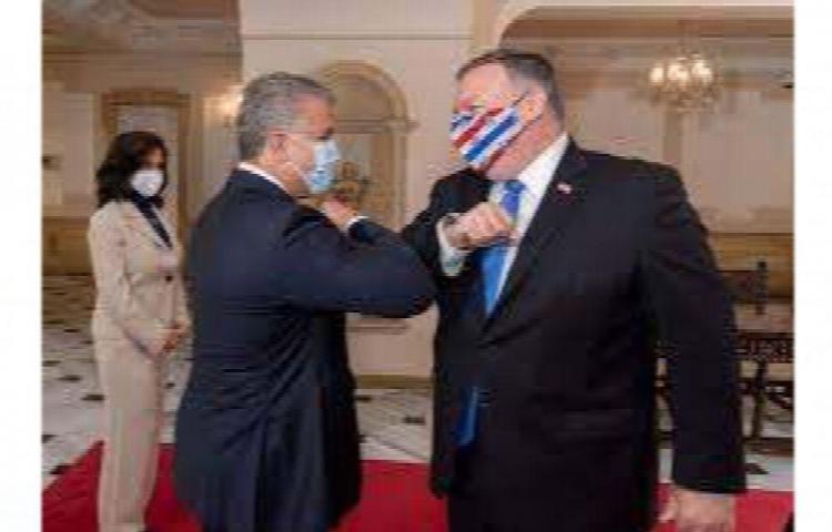 """Pompeo agradece a Duque el apoyo por una Venezuela """"sin influencia maligna"""""""