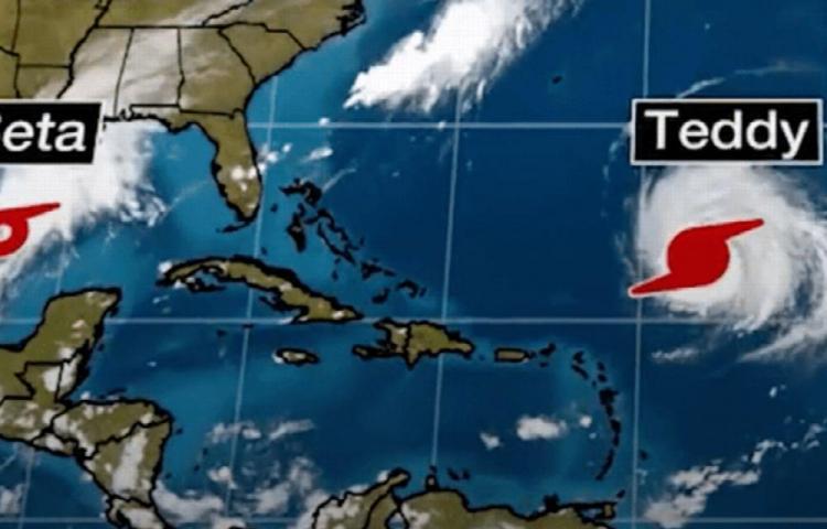 Beta amenaza la costa de EE.UU. y Teddy a Bermudas