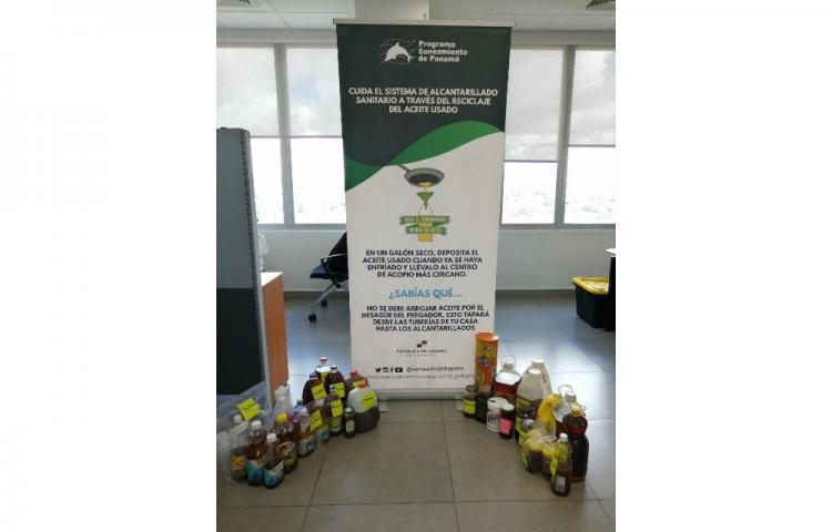 170 litros de aceite usado ha recolectadoel Programa Saneamiento de Panamá