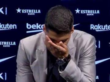 Luis Suárez se despidió con lágrimas del Barcelona
