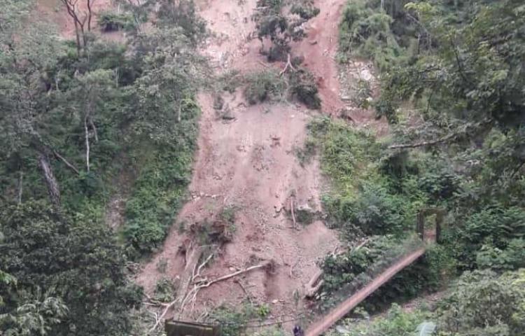 Varios sectores en Ngäbe Buglé están incomunicados por deslizamiento de tierra