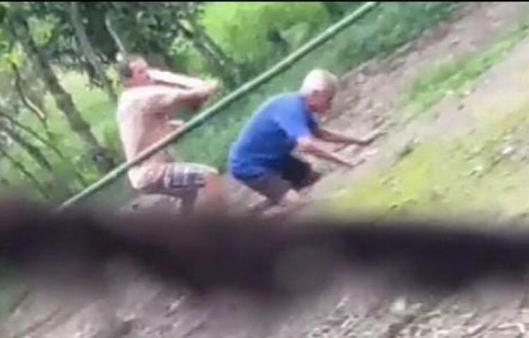 Hombre atacó a machetazos a su padre de 83 años