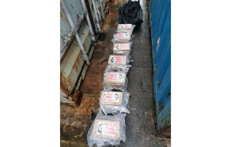 Detectan contenedor cargado con 35 paquetes de droga