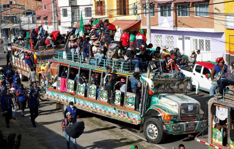 Indígenas se acercan a Bogotá con un clamor de paz para sus territorios